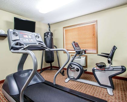 Fitness center with television | Quality Inn & Suites Davenport near I-80