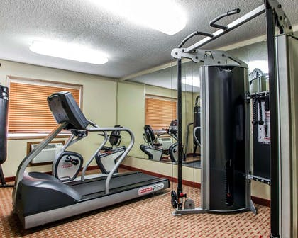 Fitness center with cardio equipment | Quality Inn & Suites Davenport near I-80