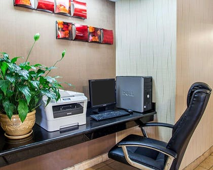 Business center with high-speed Internet access | Quality Inn & Suites Davenport near I-80