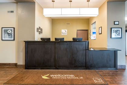 Front desk with friendly staff | Sleep Inn & Suites West Des Moines near Jordan Creek