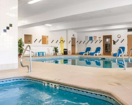 Indoor heated pool with hot tub   Comfort Suites Airport