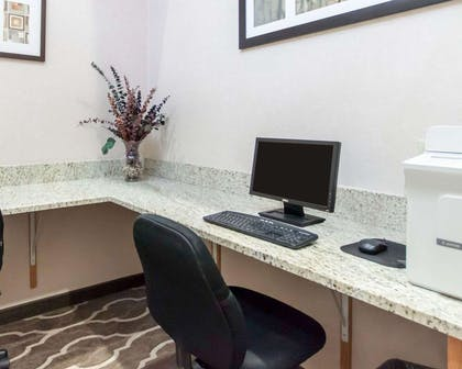 Business center with free wireless Internet access   Comfort Suites Airport