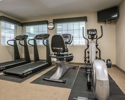 Fitness center with television | Quality Inn & Suites