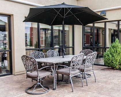 Relaxing patio area | Quality Inn & Suites