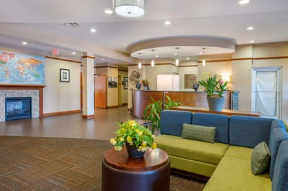 Spacious lobby with sitting area   Comfort Suites Urbana Champaign, University Area
