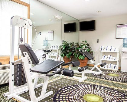 Fitness center with television | Comfort Inn