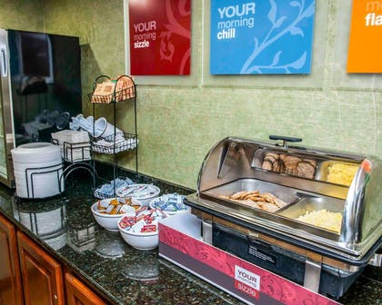 Assorted breakfast items | Comfort Inn & Suites North at the Pyramids