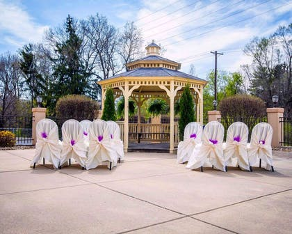 Gazebo and spacious outdoor area for special events | Comfort Suites University Area