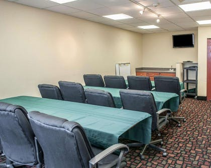 Meeting room with classroom-style setup | Quality Inn & Suites South Bend