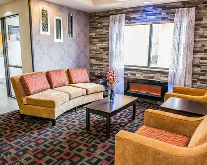 Lobby with sitting area | Quality Inn & Suites South Bend