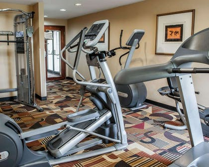 Exercise room with cardio equipment | Quality Inn & Suites Greenfield I-70