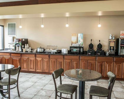 Enjoy breakfast in this spacious area | Quality Inn & Suites Greenfield I-70