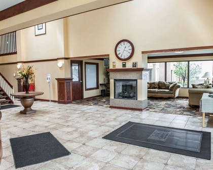 Spacious lobby with sitting area | Quality Inn & Suites Greenfield I-70