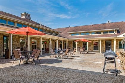Enjoy the hotel patio | Quality Inn & Suites Bedford West