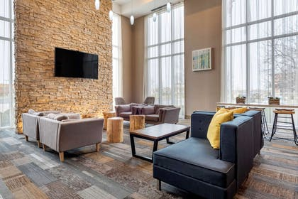 Lobby with sitting area | Cambria Hotel Noblesville Indianapolis
