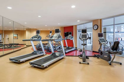 Exercise room with cardio equipment and weights | Cambria Hotel Noblesville Indianapolis