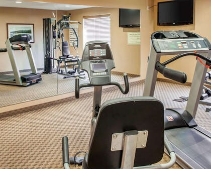 Exercise room with television | Comfort Suites French Lick
