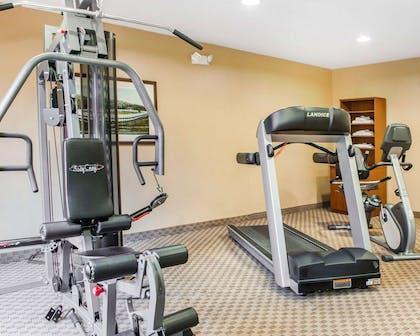Exercise room with cardio equipment | Comfort Suites French Lick