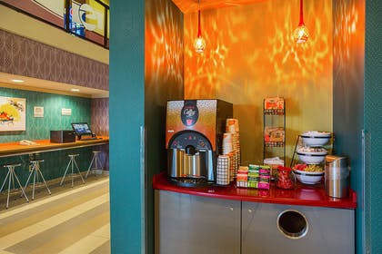 Enjoy coffee in the lobby | Clarion Inn & Suites