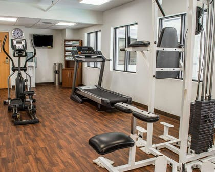 Fitness center with cardio equipment and weights   Comfort Suites
