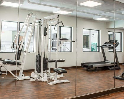 Fitness center with free weights   Comfort Suites