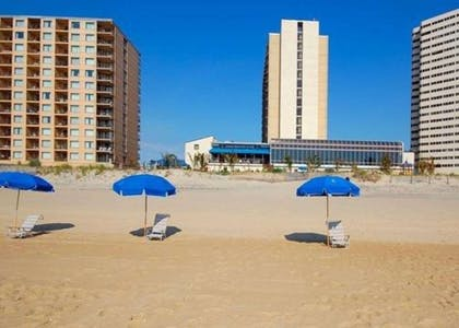 Hotel view from the beach | Clarion Resort Fontainebleau Hotel - Oceanfront