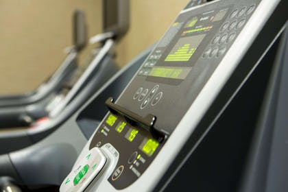 Fitness center with cardio equipment | Cambria Hotel Rockville