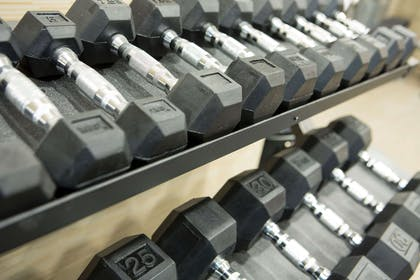 Fitness center with free weights | Cambria Hotel Rockville