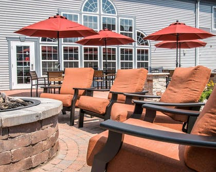 Relaxing patio area | Comfort Inn & Suites and Conference Center