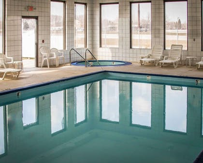 Indoor pool with hot tub | Quality Inn & Suites