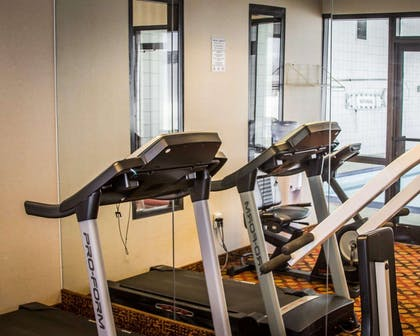 Fitness center with cardio equipment | Quality Inn & Suites