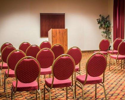 Meeting room with theater-style setup | Quality Inn & Suites