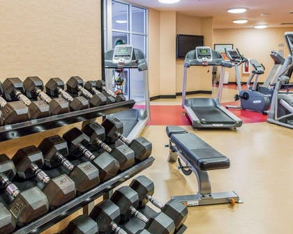 The Refresh area offers a state-of-the-art fitness center | Cambria Hotel Traverse City