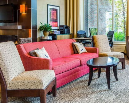 Lobby with sitting area | Cambria Hotel Traverse City