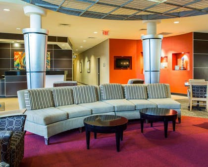 Lounge seating area | Cambria Hotel Traverse City