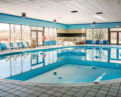 Indoor heated pool with hot tub | Quality Inn & Suites