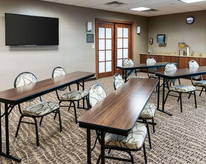 Meeting room with theater-style setup | Comfort Inn & Suites West - Medical Center