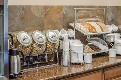 Assorted breakfast items   Quality Suites St. Joseph