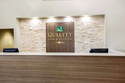 Front desk with friendly staff | Quality Inn & Suites Arnold - St Louis
