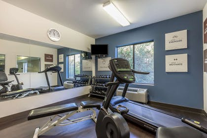 Exercise room with cardio equipment | Comfort Suites St Charles-St Louis