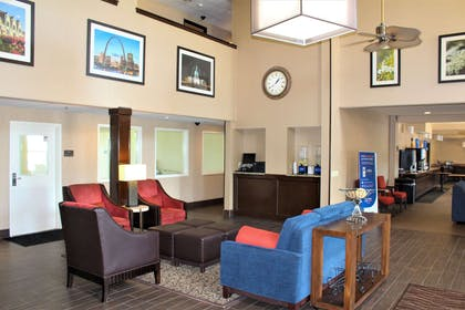 Lobby with sitting area | Comfort Inn & Suites St. Louis - Chesterfield