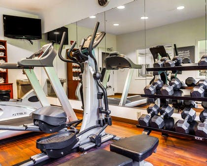 Fitness center with television | Comfort Suites Independence - Kansas City