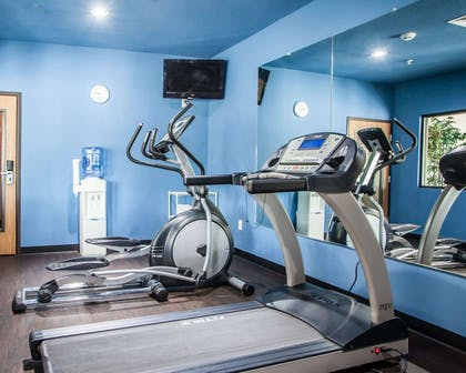 Fitness center with cardio equipment and weights | Comfort Inn Lees Summit @ Hwy 50 & Hwy 291