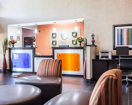 Modern front desk with a helpful and friendly staff | Comfort Inn Lees Summit @ Hwy 50 & Hwy 291