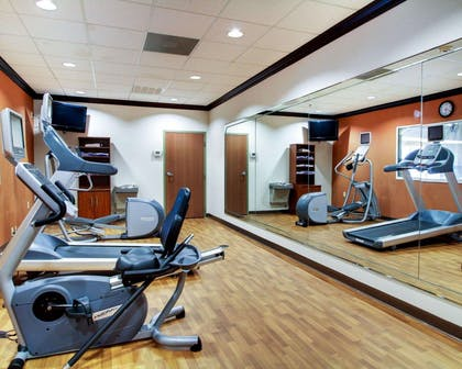 Fitness center with television | Comfort Suites Vicksburg