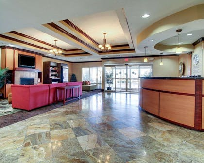 Spacious lobby with sitting area | Comfort Suites Vicksburg