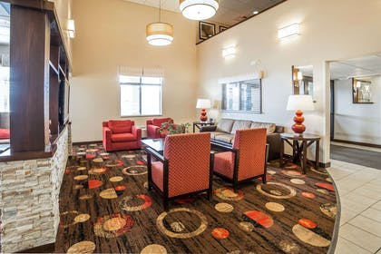 Spacious lobby with sitting area | Comfort Inn Gateway to Glacier