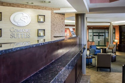 Front desk with friendly staff | Comfort Suites Raleigh Durham Airport/Research Triangle Park
