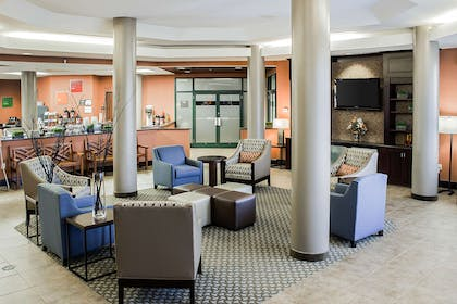 Spacious lobby with sitting area | Comfort Suites Raleigh Durham Airport/Research Triangle Park