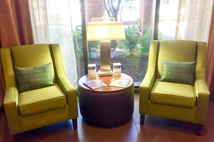Remodeled lobby with seating area   Comfort Suites Regency Park